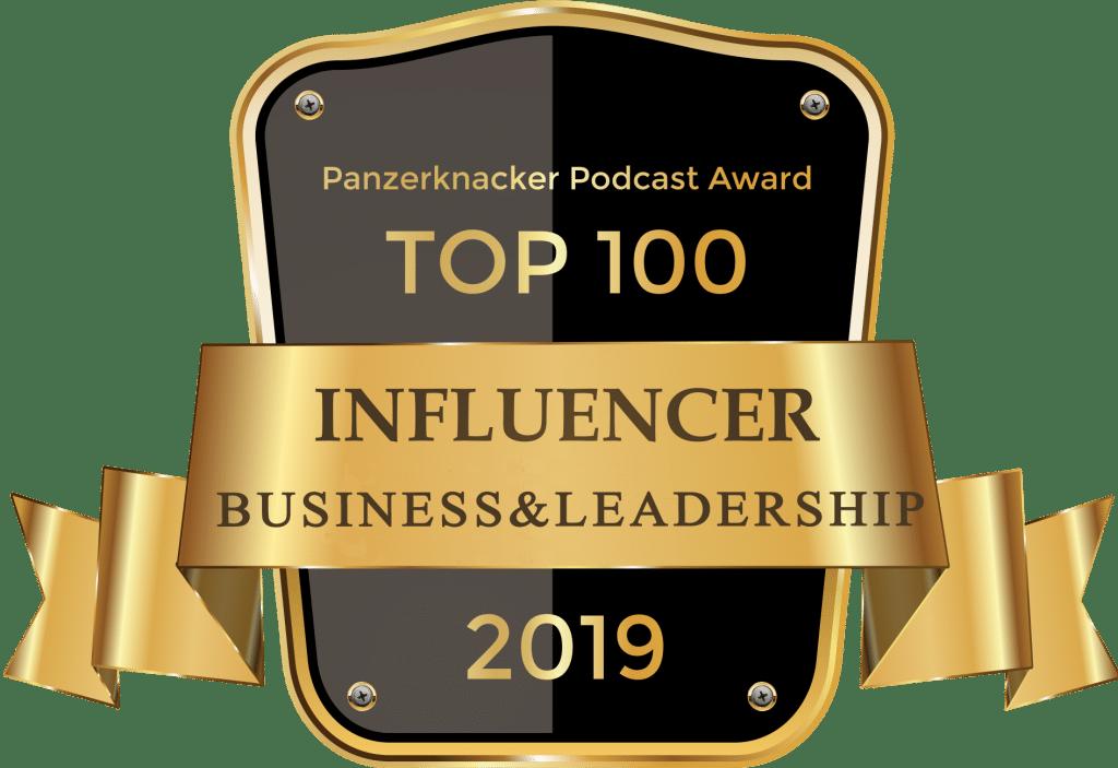 Top 100 LEADERSHIP Influencer - Panzerknacker Award 4